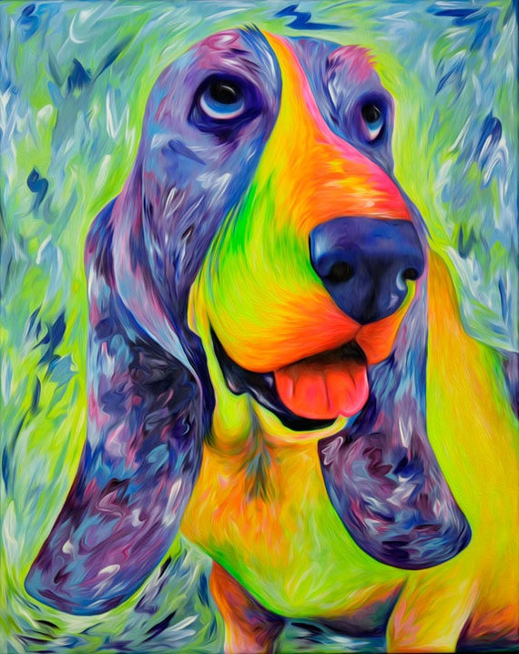 Basset Hound Print - Daisy Mable