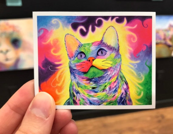 Cat Magnet - Limited Edition Rainbow Kitty