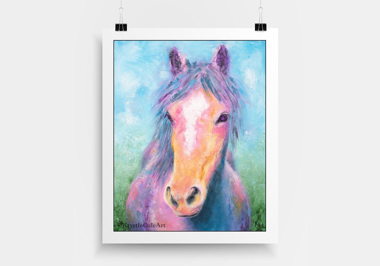 Rainbow Horse Print
