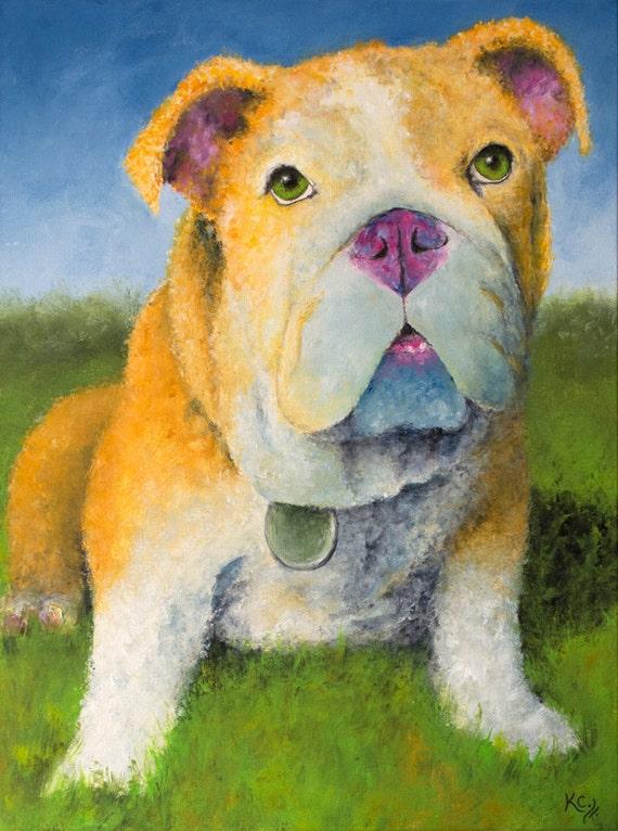 English Bulldog Puppy Print - Hublot