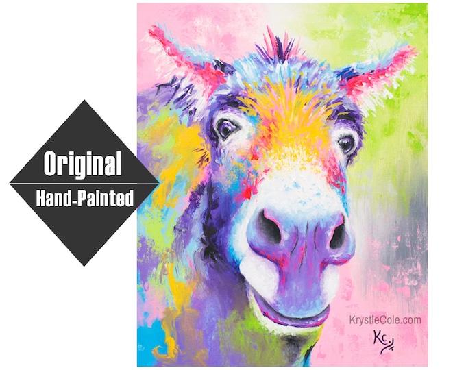 "Donkey ""Hank Williams"" Painting - 16x20"""