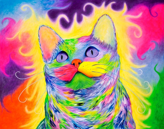 Rainbow Kitty Print