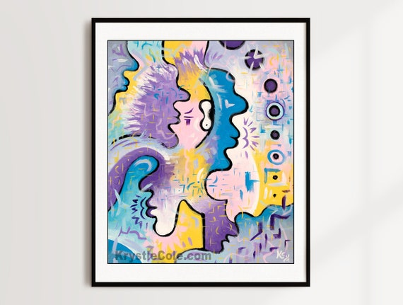 Basking in the Cosmic Embrace Print