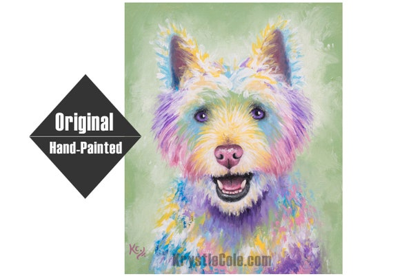 Westie / West Highland Terrier Dog Painting