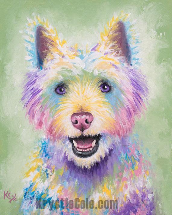 Westie / West Highland Terrier Dog Painting