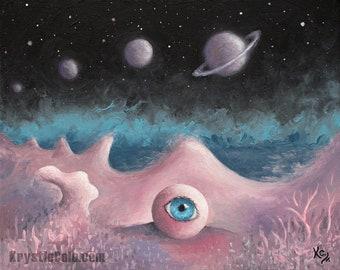 Surreal Space Trip Print
