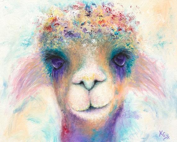 Alpaca Pixie Print