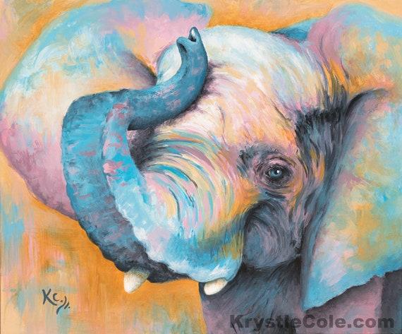 Elephant Stephanie Painting