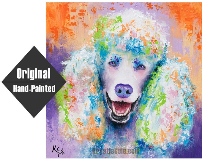 """Poodle Painting - 24x24"""""""