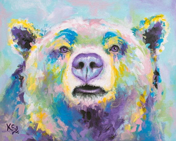 Blue Bear Painting