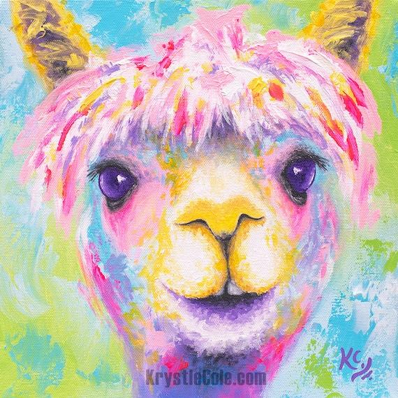 Rainbow Alpaca Print
