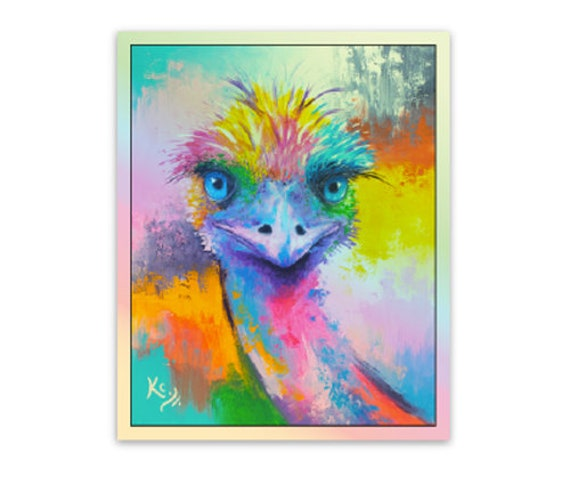 Metallic Emu / Ostrich Sticker - Limited Edition