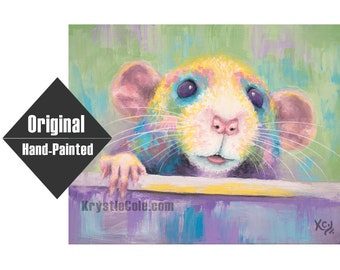 """Rat Painting """"Say Cheese"""" - 11x14"""""""