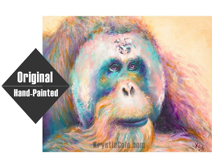"Orangutan Painting - 16x20"""