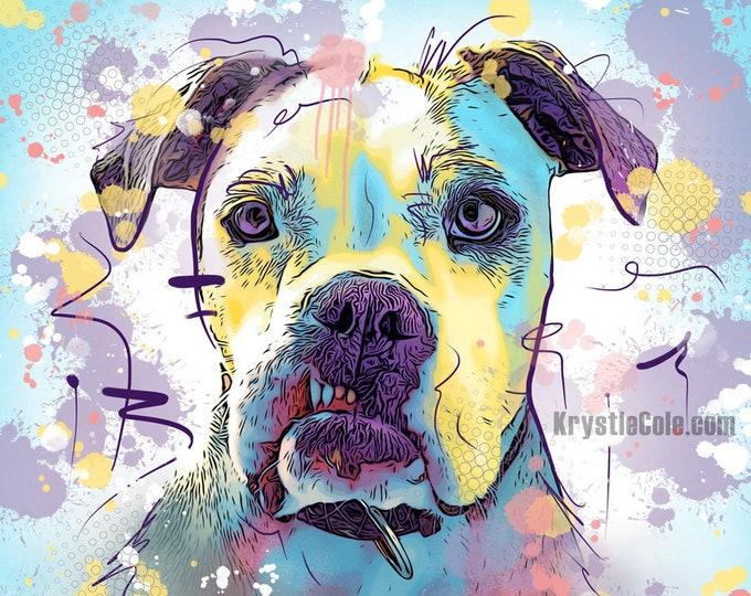 Abstract English Bulldog Print