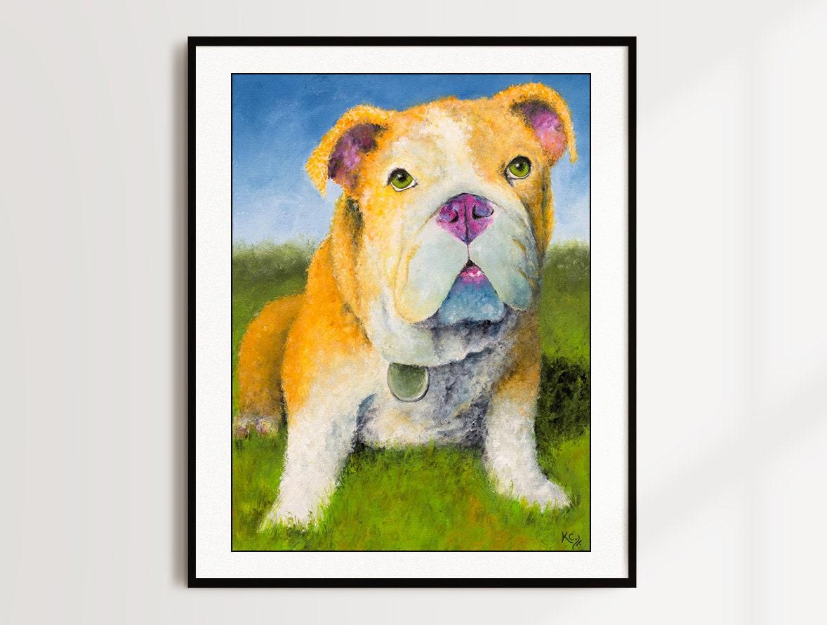 English Bulldog Puppy Print Hublot