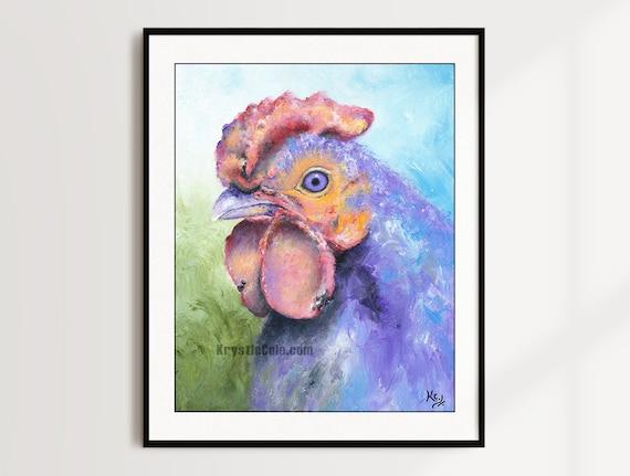 Purple Rooster Print