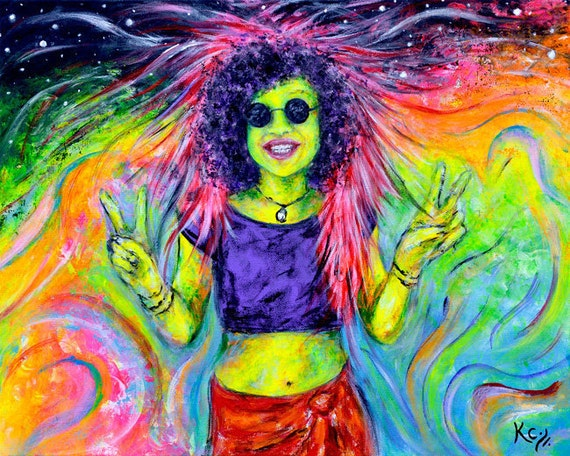 Psychedelic Sister in the Walnut Valley Print
