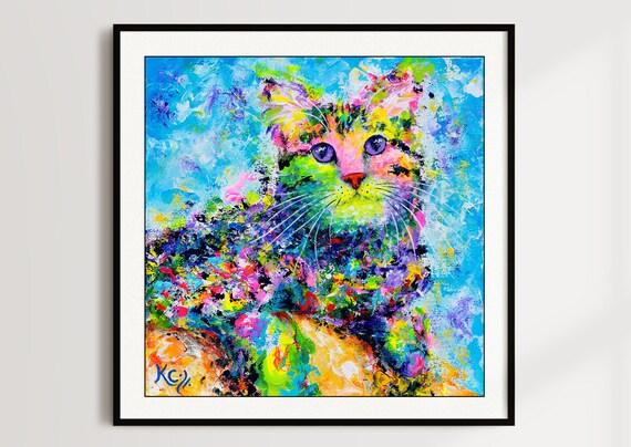 Psy Cat Print