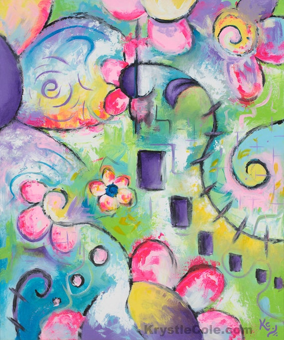 A Walk in Morning's Bloom Painting