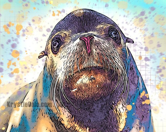 Sea Lion Print