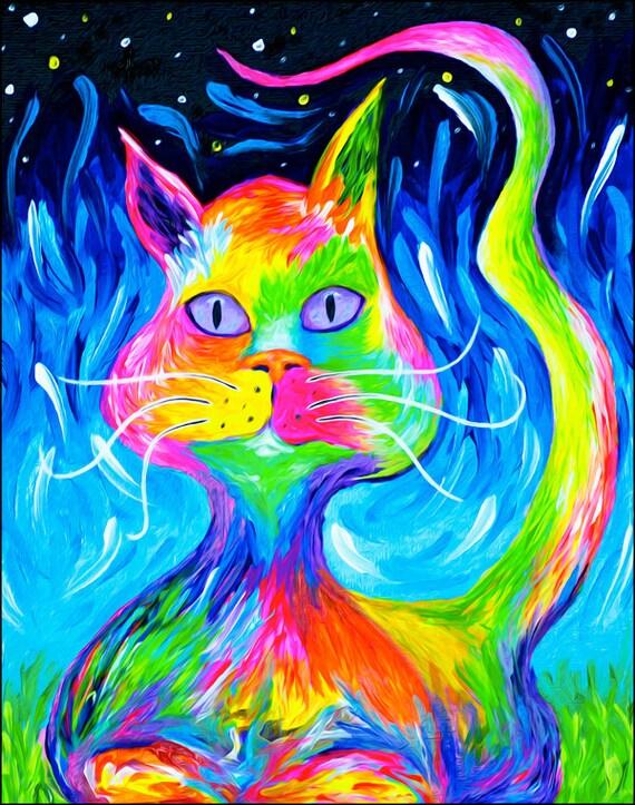 Cosmic Cat Print
