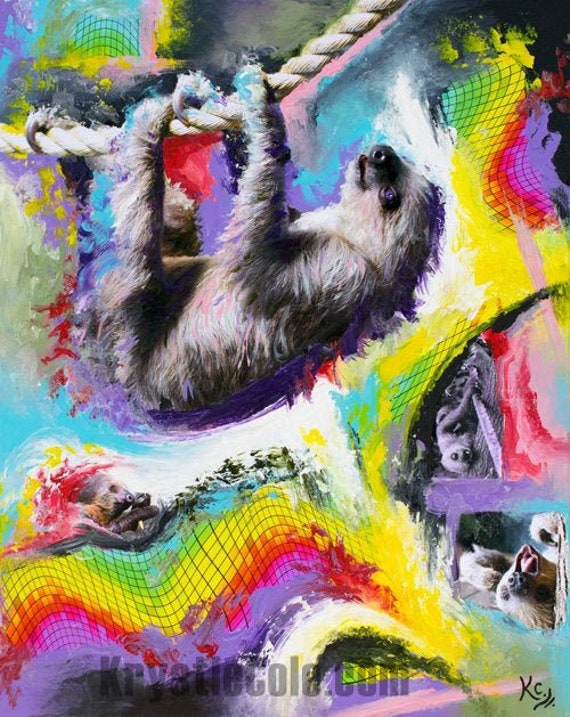 Cosmic Dance of the Inner Sloth Painting
