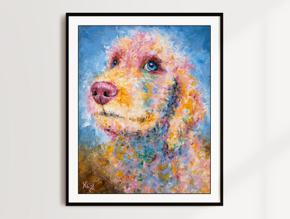 Golden Doodle Puppy Print - Reese