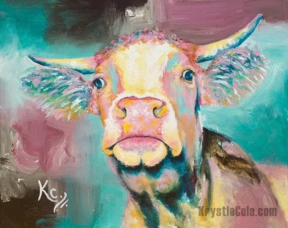 Moo Cow Print