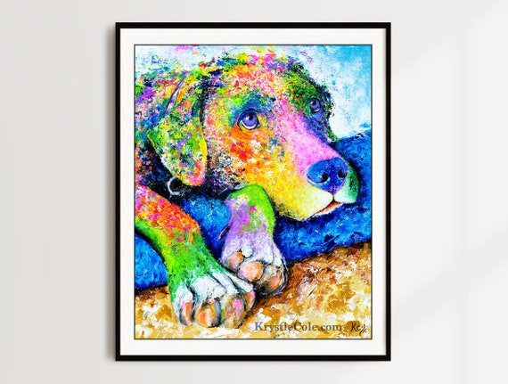Labrador Retriever Print - Moose