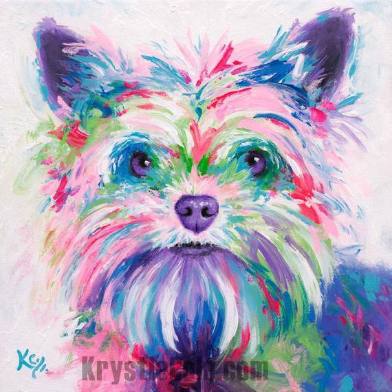Yorkie Painting - Daisy