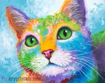 Kitty with Green Eyes Print