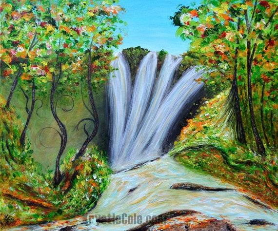 Psy Waterfall Print