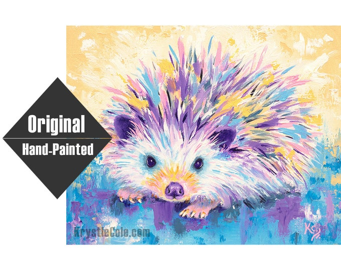 "Hedgehog Painting - 16x20"""