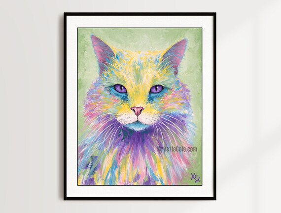 Nebelung Cat Print