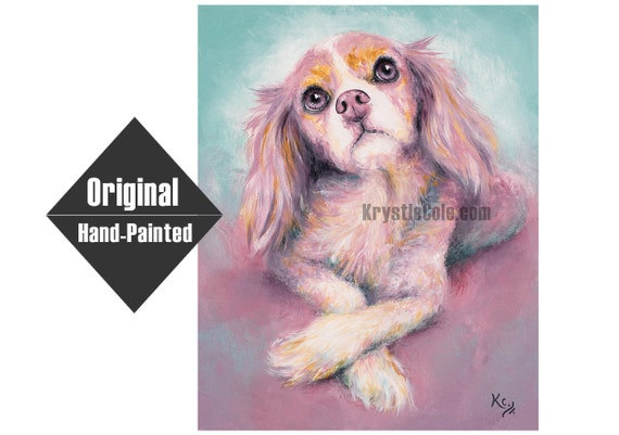 Cavalier King Charles Spaniel Charlotte Painting
