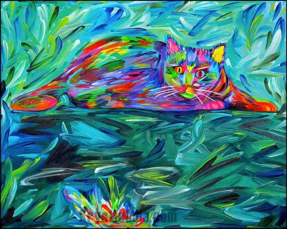 Cat Print - The Hunter