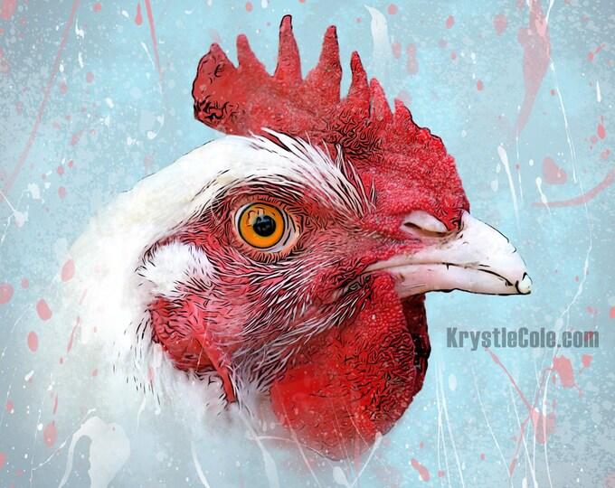 Red Hen Chicken Print
