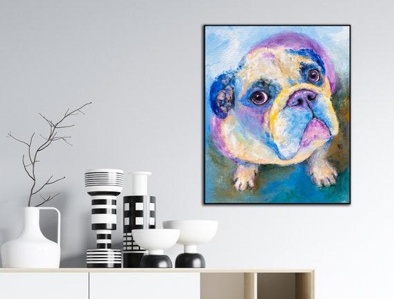 English Bulldog Art Print on Wood - Jude