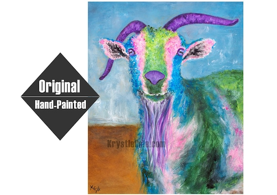 Billy Goat Original Painting