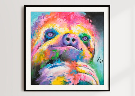 Psychedelic Sloth Print