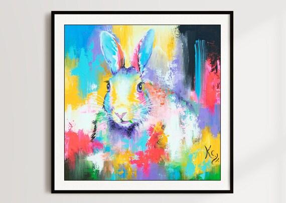 Rabbit Among the Flowers Print