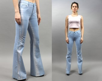 7719a29c90c Vintage Light Blue Flare Bell Bottom Jeans