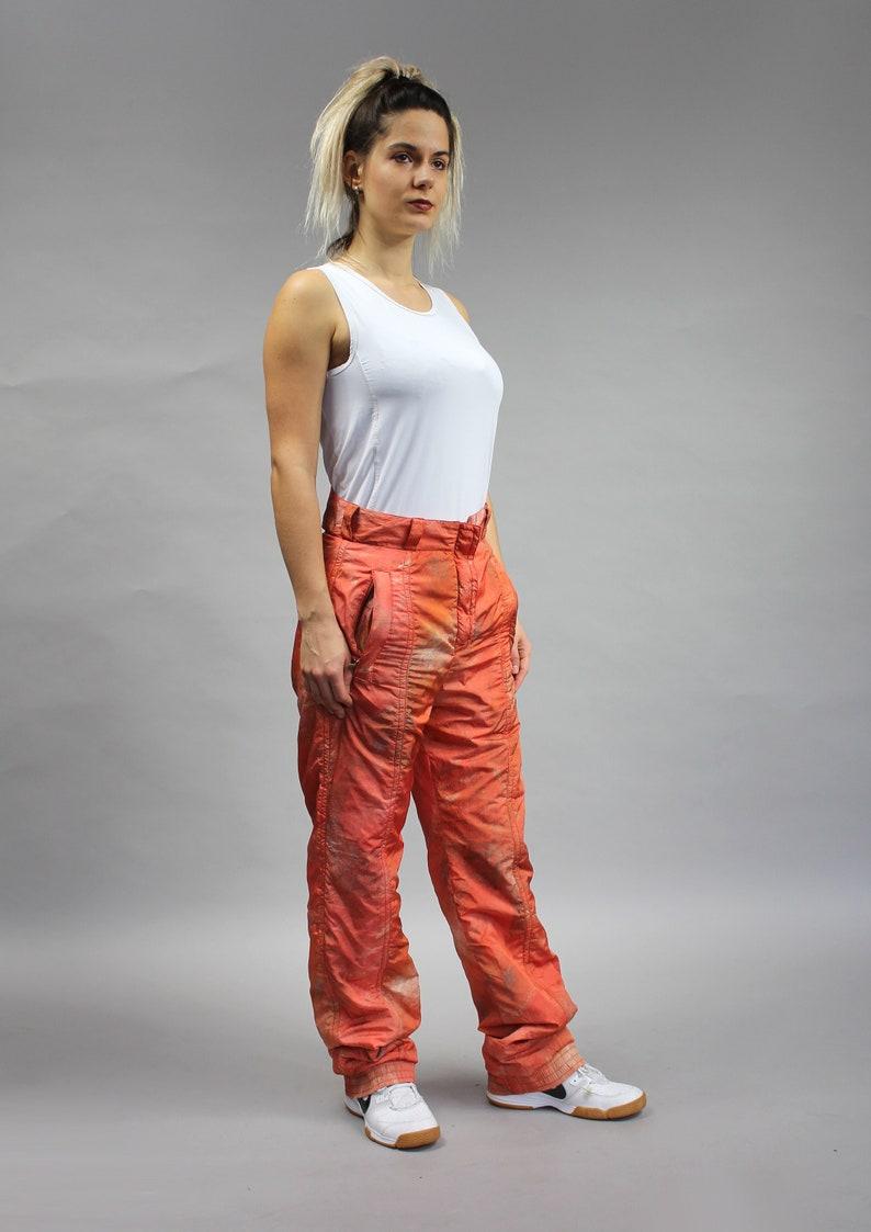 Medium Waterproof Puffer Pants 80s Vintage Baggy Skiing Snowboarding Pants