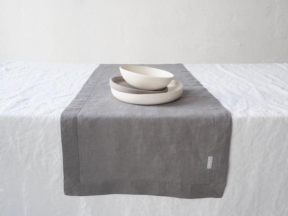 Table runner grey Stones-handmade