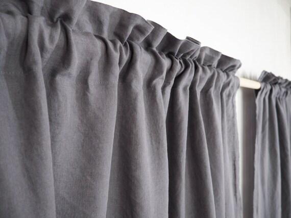 Stonewashed linnen gordijn paneel aangepast formaat linnen etsy