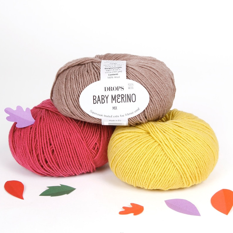 100% Baby Merino Yarn 43 colours Garnstudio DROPS Baby image 0