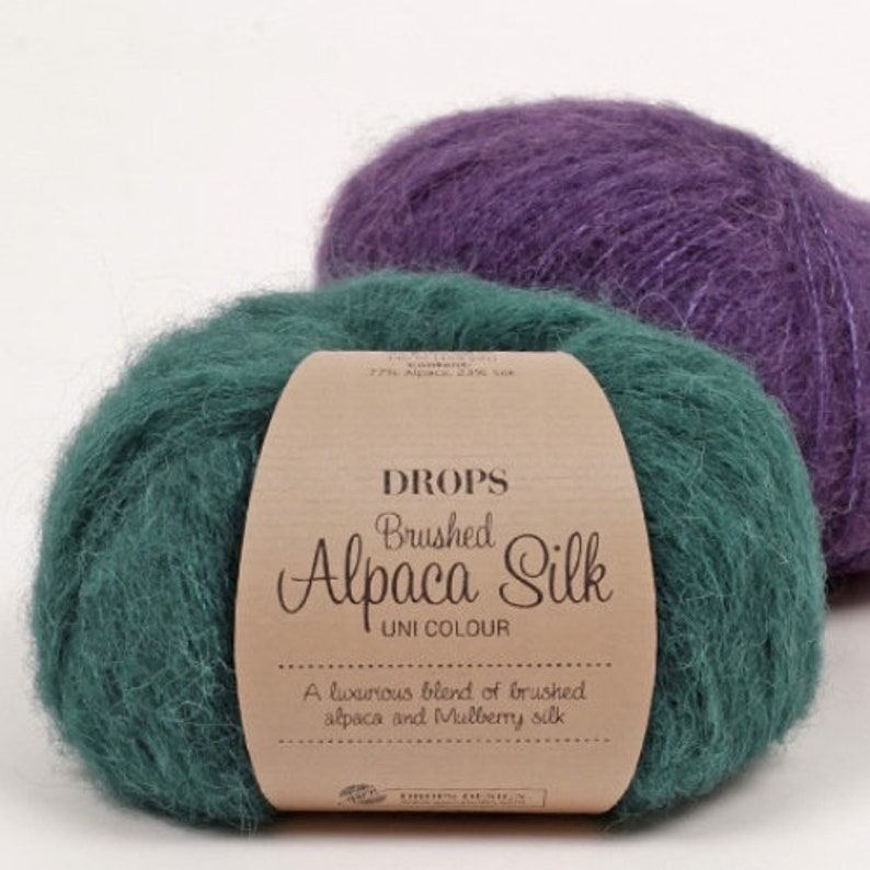 Brushed Alpaca silk yarn Garnstudio DROPS Design Brushed image 0