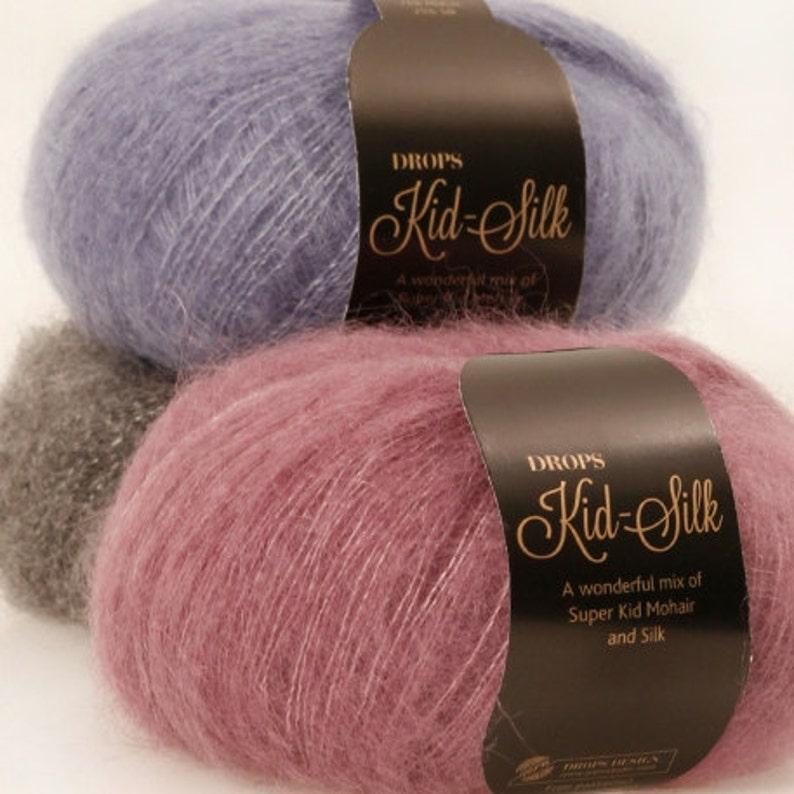 9d9c45f201b6 Kid Mohair Silk yarn Garnstudio Drops design KID-SILK 75% kid