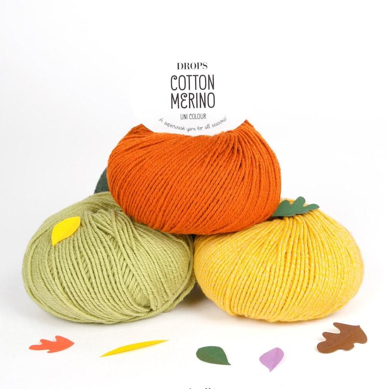 e87bec83110d Cotton Merino yarn Garnstudio DROPS design DK Knitting wool